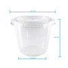 Clear Plastic Disposable Portion Cups/Souffle Cup with Lids 5.5 oz