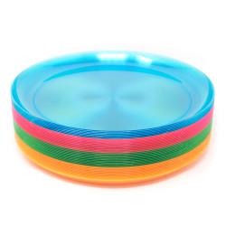 Plastic Plates - Neon 9 inch