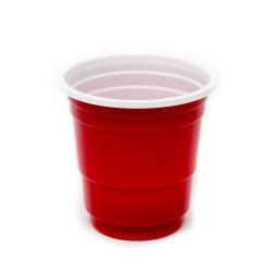 Red Plastic Mini Party Shot Glasses 2oz/16oz