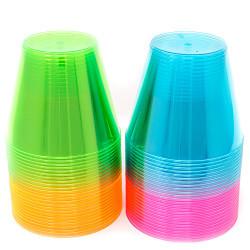 Plastic Cups - Neon 9 oz