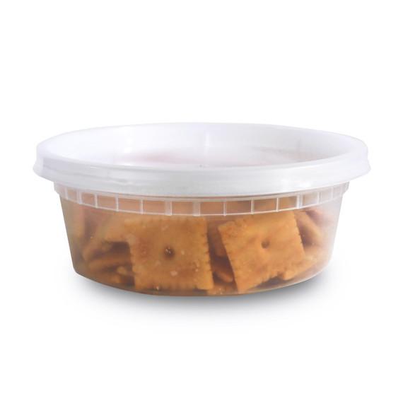 Plastic Deli Food Storage Containers - 8oz