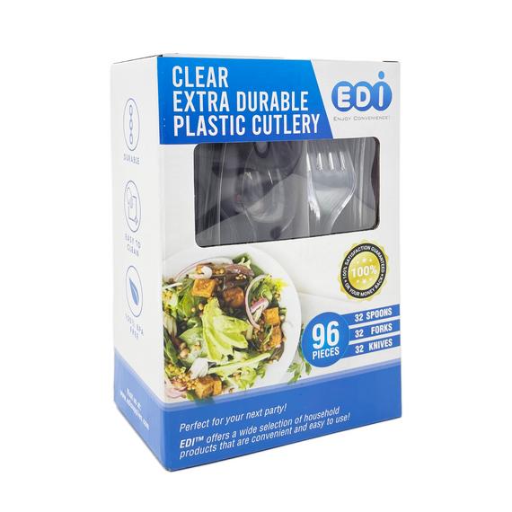Clear Cutlery - 96 pcs