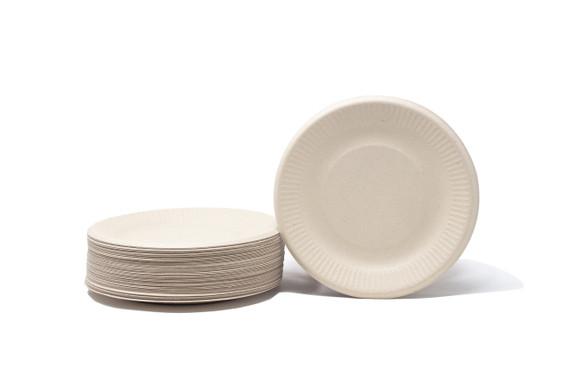 "Natural Compostable Plant Fiber 6"" Plate"