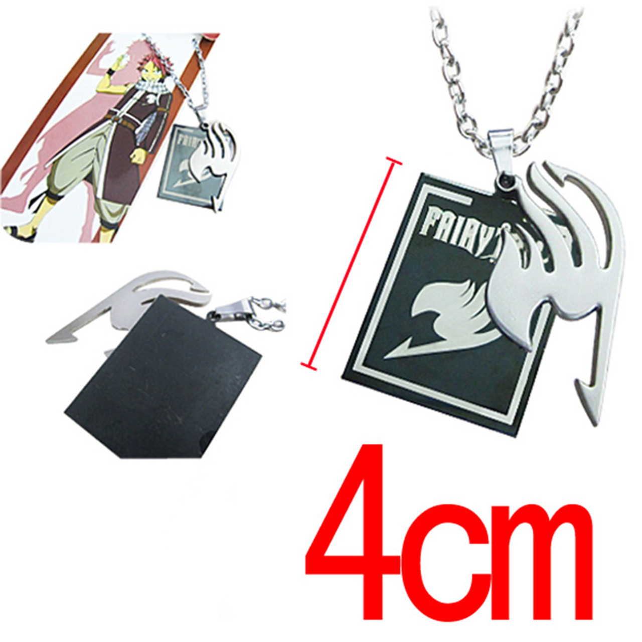 Fairy Tail Silver Tattoo Logo Pendant Jewelry Necklace
