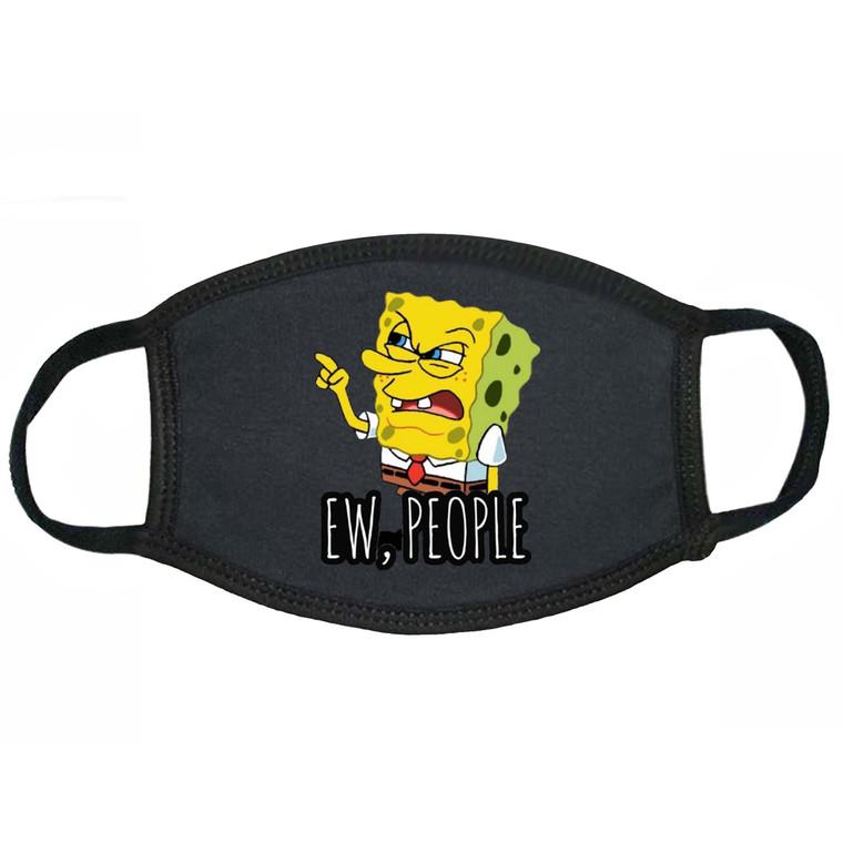 Spongebob Pointing Finger Ew People Face Mask