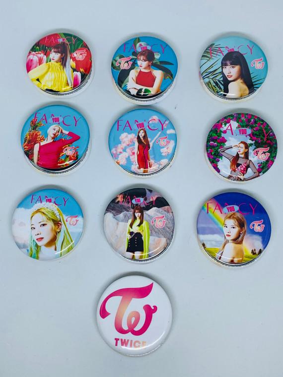 Kpop Twice Pinback Buttons Pins Badges Custom