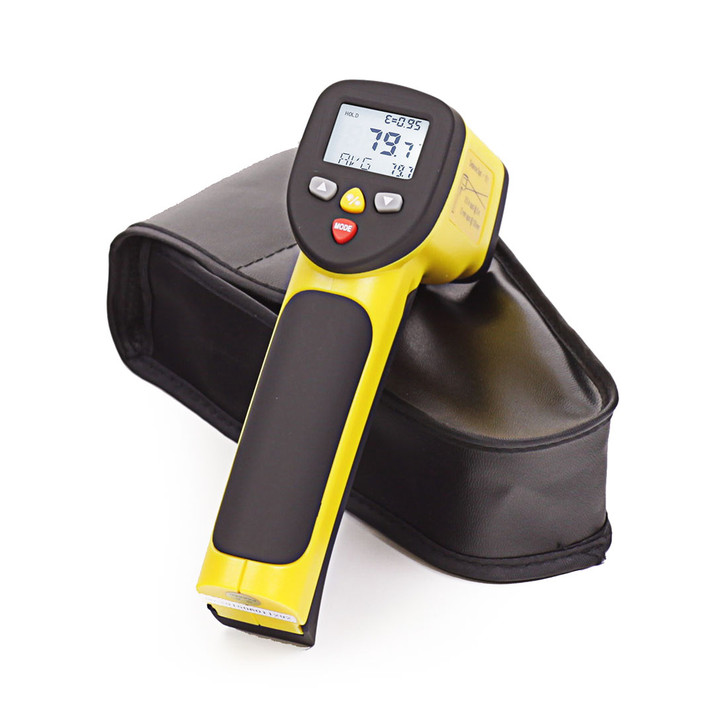 Infrared laser thermometer for pizza oven