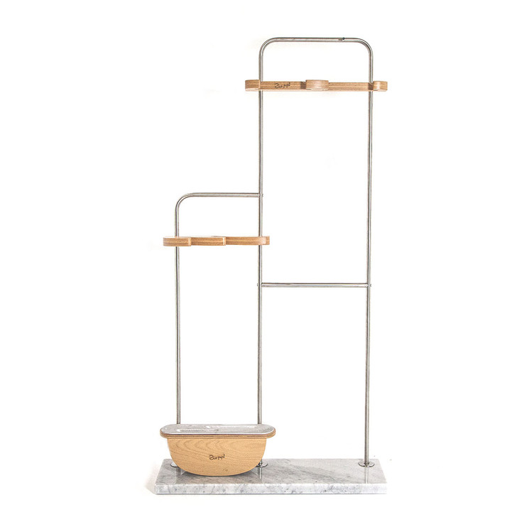 Free-standing marble base tool stand for up to four Zio Pepe tools