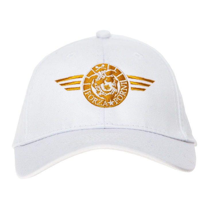 Official Forza Forni cap (white version with gold thread embroidery)
