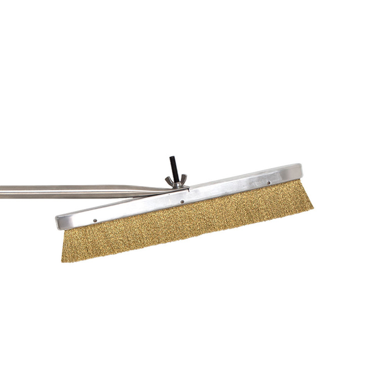 Brass bristle oven brush