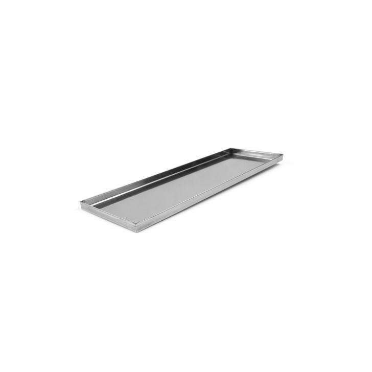 stainless steel roman pizza pan display half size