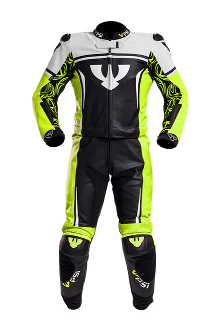 PSI IMOLA LEATHER TWO PIECE MOTORCYCLE RACE SUIT