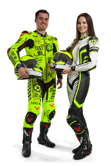 PSI TEST ME LEATHER ONE PIECE MOTORCYCLE RACE SUIT