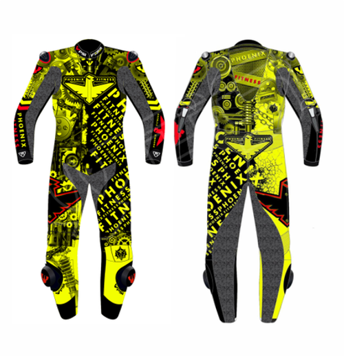 CUSTOMISED TWO PIECE  MOTORCYCLE RACE SUIT - MENS