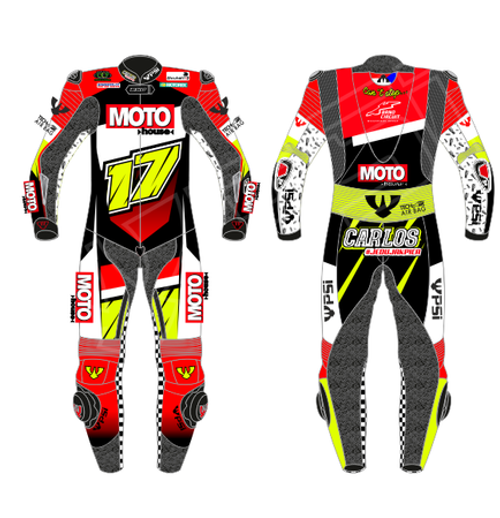 PSI CUSTOMISED ONE PIECE  MOTORCYCLE RACE SUIT - MENS