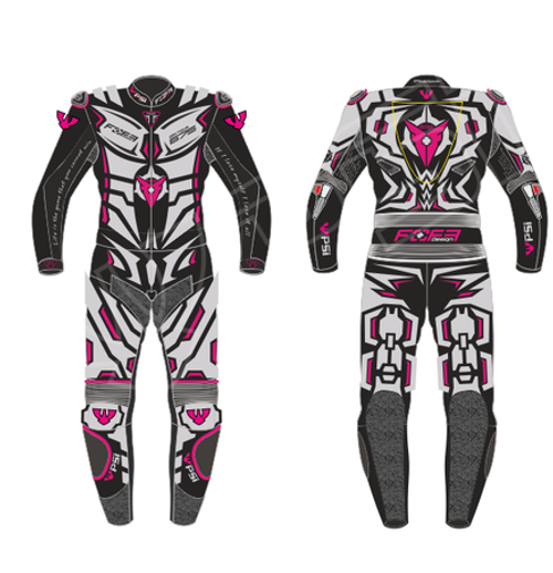 PSI CUSTOMISED TWO PIECE  MOTORCYCLE RACE SUIT - LADIES