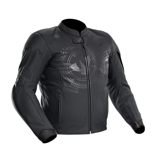 PSI LEATHER MOTORCYCLE JACKET NERO