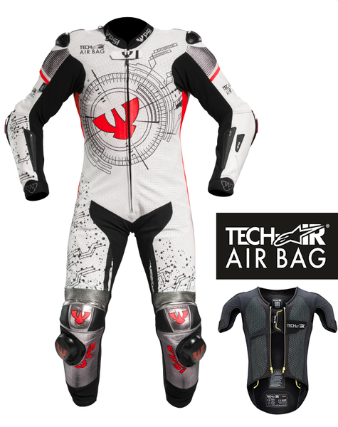 PSI GRID - TECH-AIR LEATHER ONE PIECE MOTORCYCLE RACE SUIT, INC AIRBAG SYSTEM