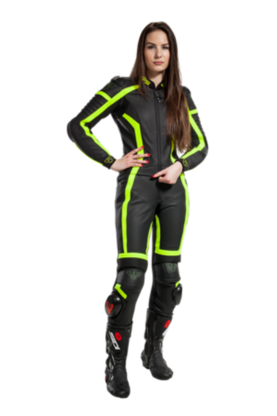 PSI LEATHER TWO PIECE MOTORCYCLE  RACE SUIT ARSA LADY