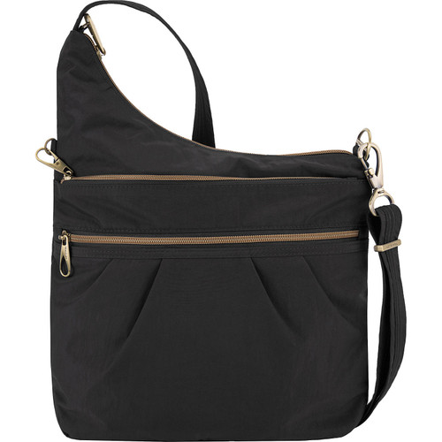 Black Travelon Anti-theft crossbody nylon bag at Bijou's Boutique