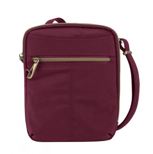 Travelon Anti-Theft Signature Slim Ruby Day Bag at Bijou's Boutique