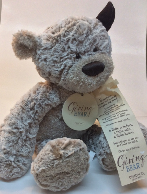 Giving bear. So soft and has a great message on tag. Great for a new born baby gift and for friends needing little comfort