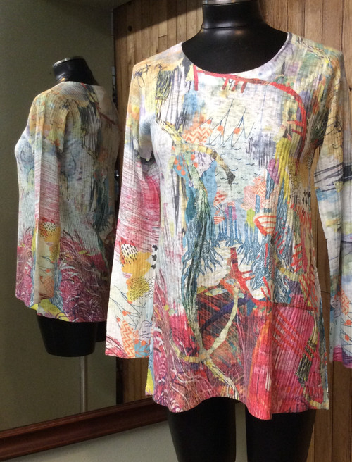 Inoah print tunic at Bijou's Boutique.