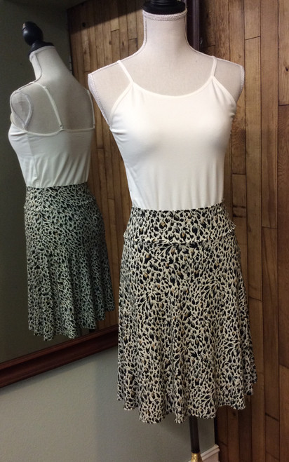 Salaam flirty print skirt at Bijou's Boutique.