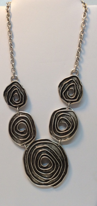 Zinc based necklace, made in Turkey at Bijou's Boutique. Nickel free, non-corrosive, will not tarnish.