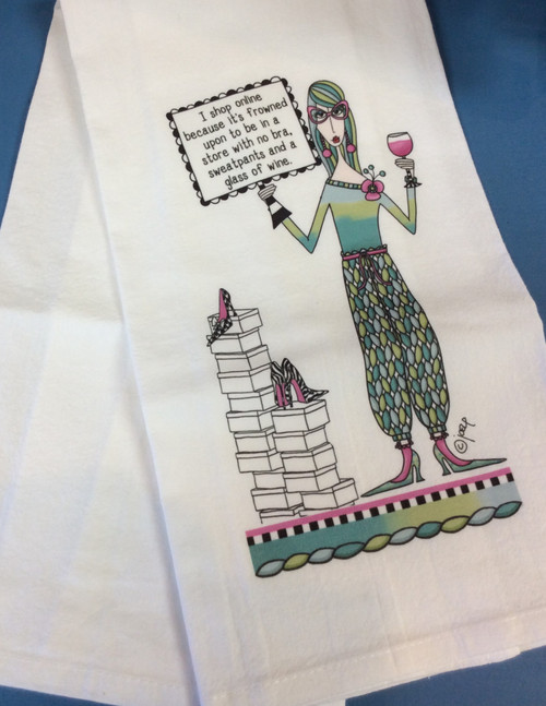 """CJ Bella Hand Towel - I Shop Online . . . at Bijou's Boutique.  Generously sized 27"""" x 27"""" flour sackthat is super absorbent, lint free,  washer and dryer safe. Comeswith a corner loop for convenient storage  or hang drying. 100% Pre-shrunk Cotton."""