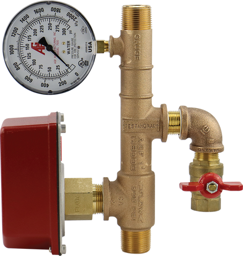 """1"""" bronze NFPA 13D residential riser manifold with threaded connections"""