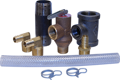 Universal pressure relief kit for AGF RiserPACK floor control assemblies for fire sprinkler systems
