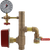 AGF bronze 13R residential riser with pressure gauge, 3-way valve, and grooved connections
