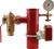 AGF steel riser with TESTanDRAIN, 3-way valve, pressure gauge and grooved connections