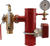 """AGF grooved 4"""" steel riser with grooved TESTanDRAIN with pressure relief valve, 3-way valve and pressure gauge"""
