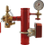 """AGF grooved 3"""" steel riser with threaded TESTanDRAIN with pressure relief valve, 3-way valve and pressure gauge"""