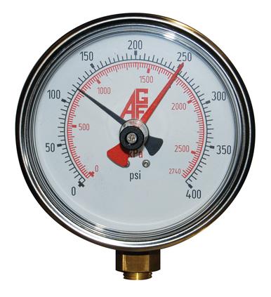 AGF Model 7550 SMART pressure gauge with drag needle
