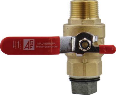 Auxiliary drain ball valve.