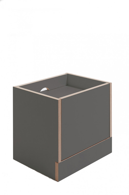 FLAI Bedside Table with Drawer in anthracite