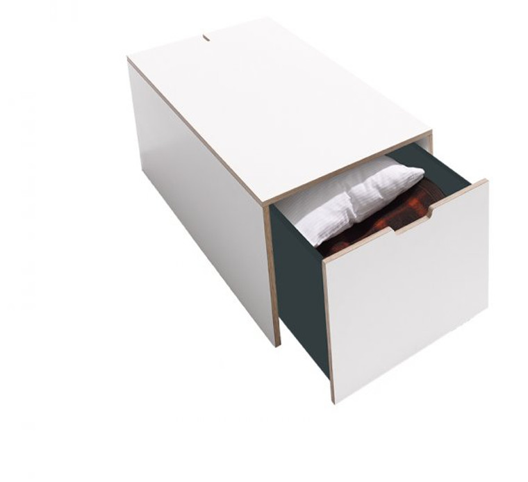 Bedbox16 Classic Bedside Drawer in white