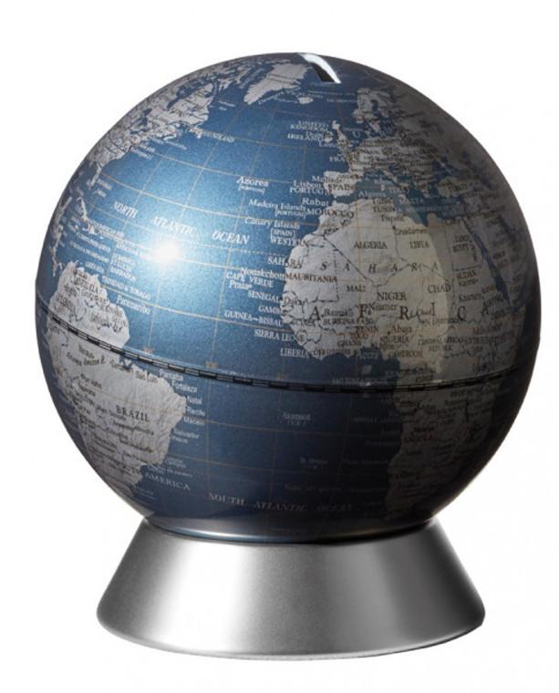 Blue Orion Money Box Globe