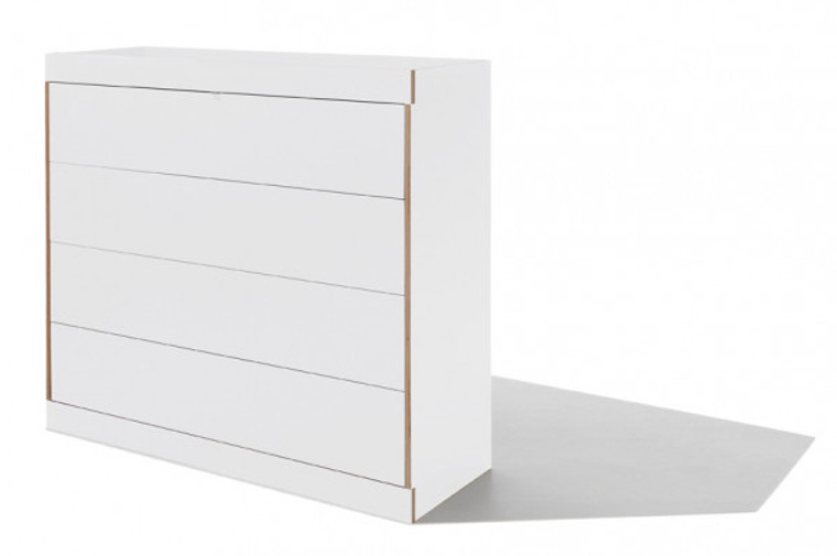 FLAI Chest of Drawers - Double white with 4 drawers
