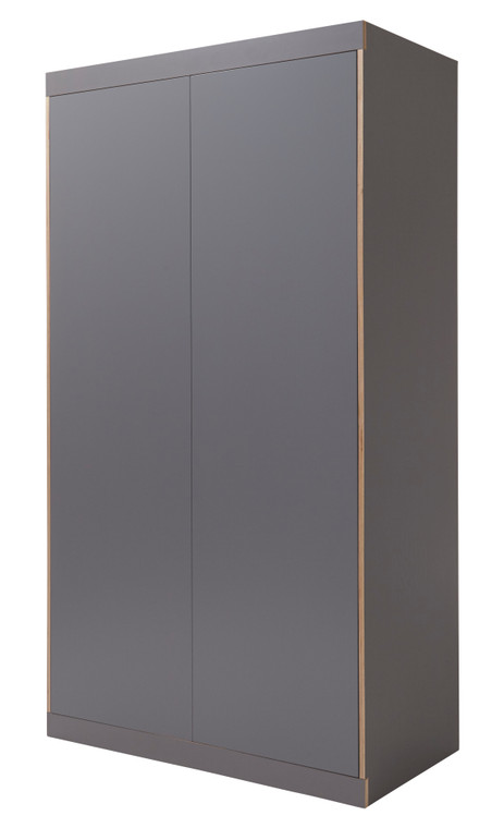 FLAI Wardrobe 2-Door in Anthracite