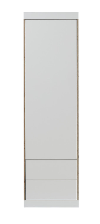 FLAI Single Door Wardrobe with External Drawers