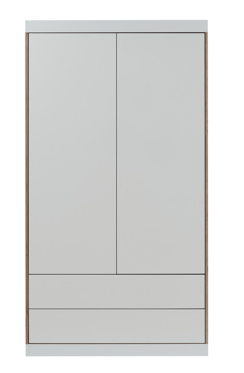 FLAI 2-Door Wardrobe with External Drawers