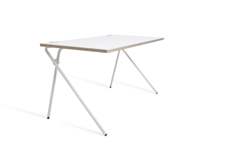 White Plato modern, space saving desk table Made in Germany