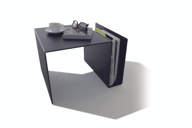 Black Huk Multi-Use Modern Side Table