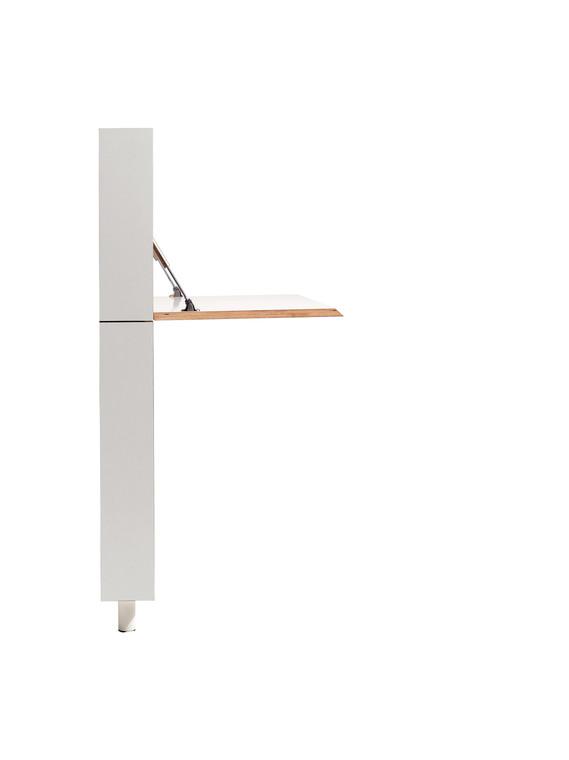 FlatMate Ultra Thin Modern Desk side view