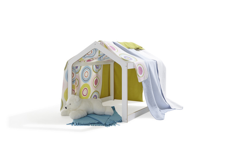 Playhouse with sheets