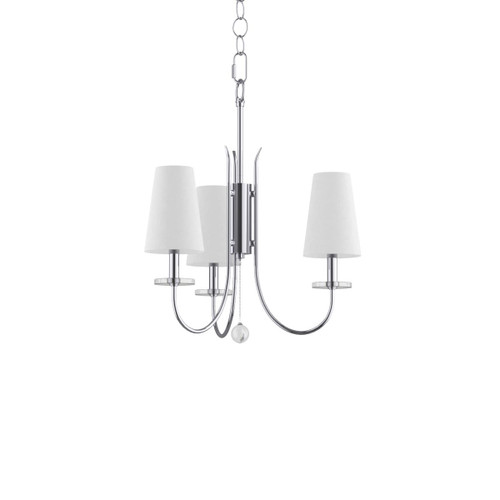 """Miseno MLHL6233 Panama 21"""" Wide 3 Light Single Tier Shaded Style Chandelier with Tapered Shades"""